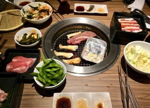 All you can eat Yakiniku. Food is not cheap, but considering the quality it is a good value. Enjoy!