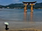 The famous floating torii gate on Miyajima.