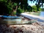 Fisherman's boats on Pulau Ai
