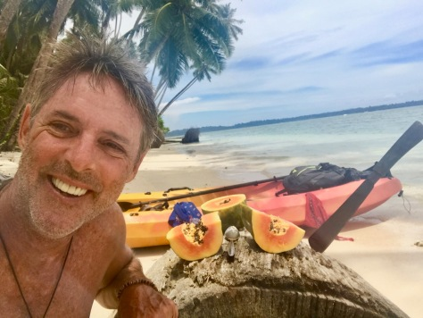 Solo Kayaking, Kayaking, Banyak Islands, island paradise, paradise, beach, perfect beach, camping, Sumatra, Indonesia, papaya lunch