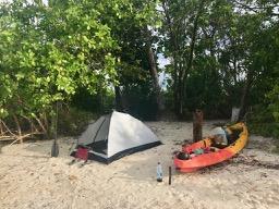 Camping on Pulau Pandan