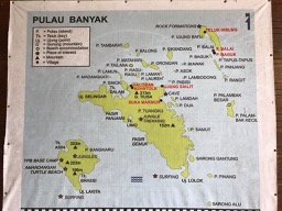 General map of the Banyak Islands
