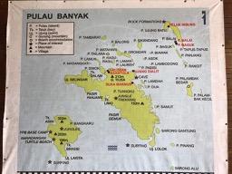 General map of the Banyak Islands