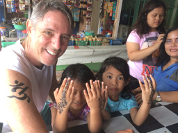 Terry Donohue, travel writer, Cimaja, tattoo, Ujung Kulon, National Park, Indonesia
