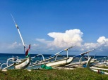 Traditional fishing boats at Nusa Penida