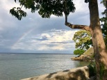 Rainbow over the Bali Strait