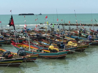 Fishing boats on the north Javan coast