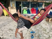 Kids at Maluk Beach