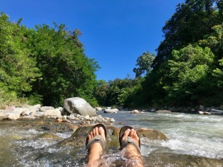 Chilling in one of Flores many rivers